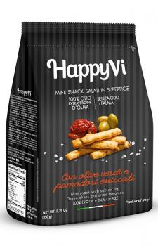 Snack Happy Vi com Azeitona Verde e Tomate Seco